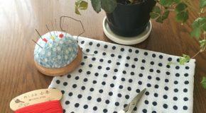 手のひらサイズのときめき台ふきんを縫った!